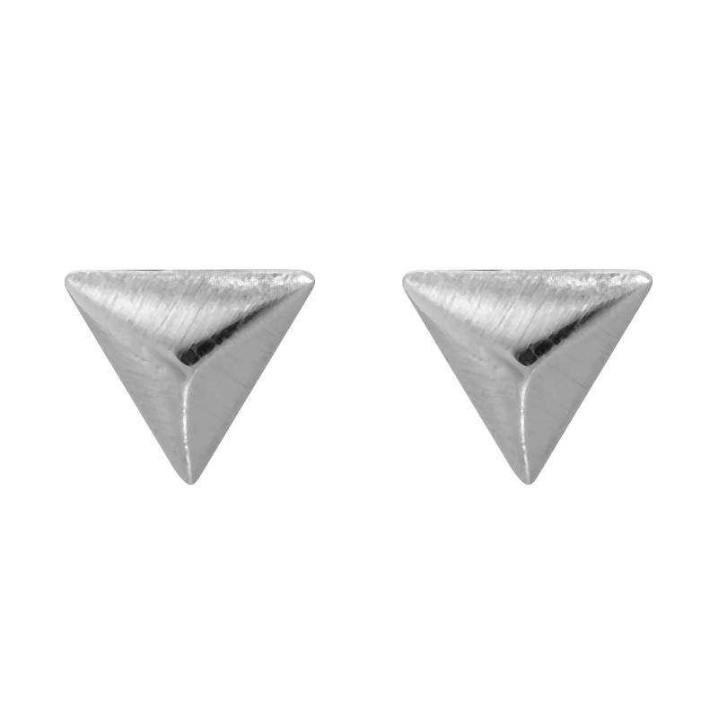 Lovelymusthaves Zeer kleine subtiele driehoek oorbellen