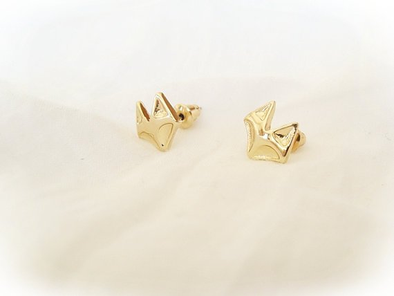 Lovelymusthaves Vos fox dier hippe oorknopjes zilver/goud/rose