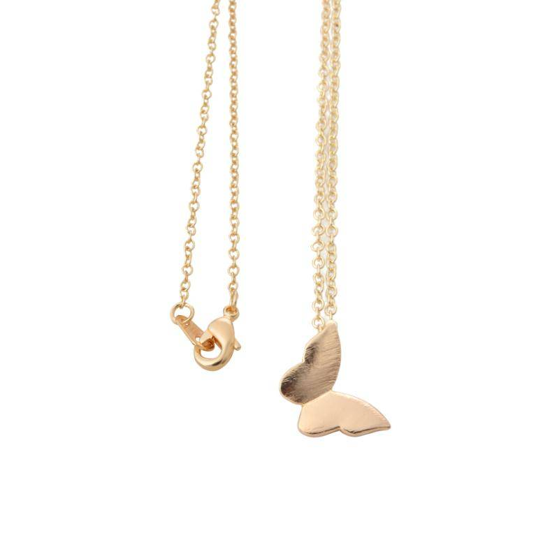 Lovelymusthaves Vlinder butterfly trendy ketting zilver/goud