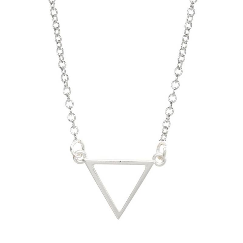 Joboly Triangle open minimalistische driehoek ketting
