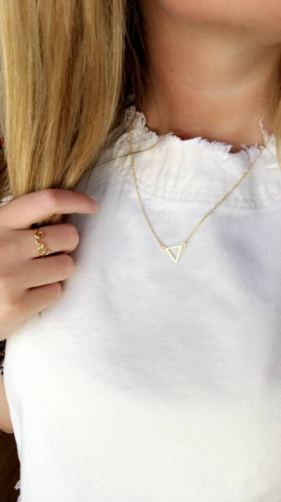 Lovelymusthaves Triangle open minimalistische driehoek ketting