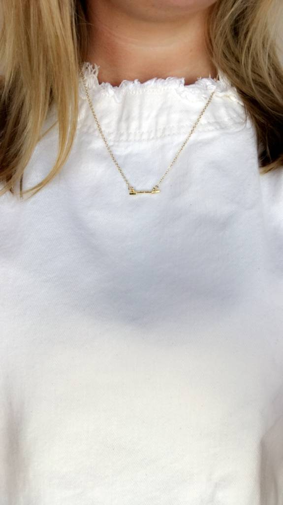 Lovelymusthaves Lovelymusthaves - Arrow boho bohemian necklace silver/gold