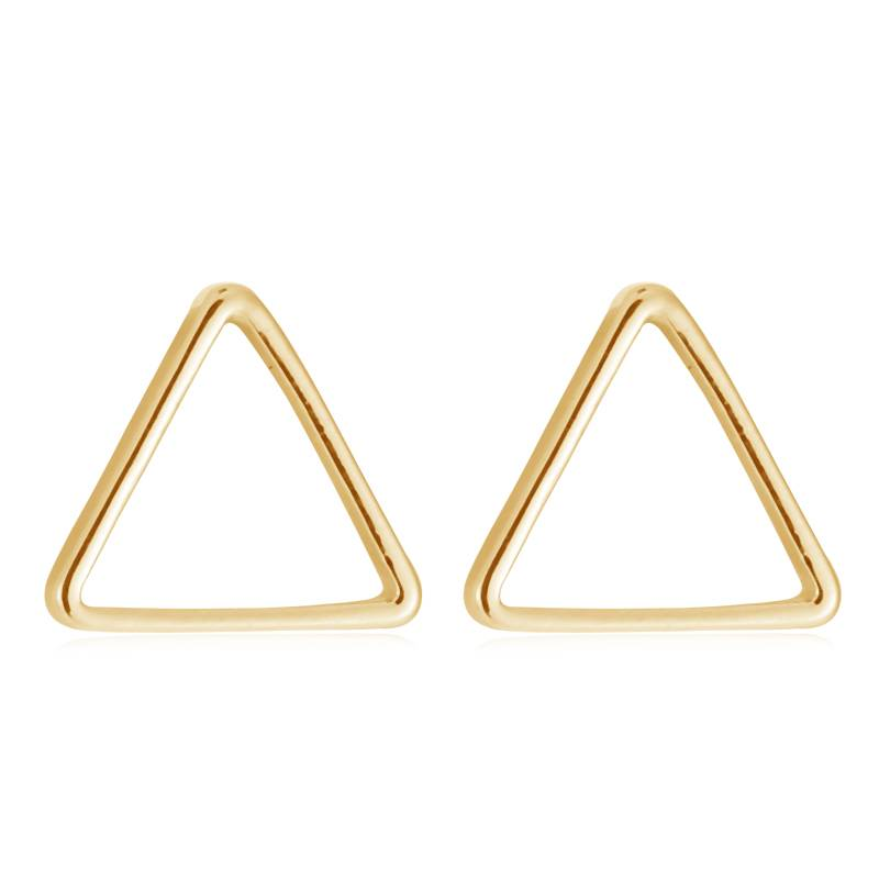 Lovelymusthaves Triangle open minimalistic triangle earrings
