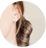 Lovelymusthaves Lovelymusthaves - Trendy water drop earstuds silver/gold/rosé