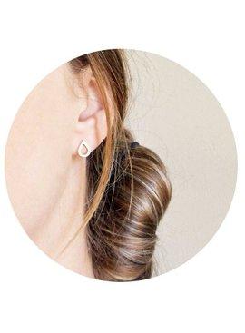 Lovelymusthaves Trendy druppel water spetter oorknopjes zilver/goud/rosé