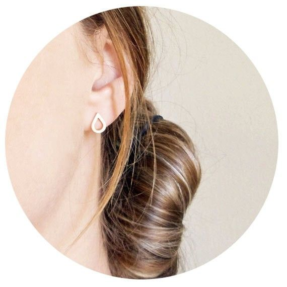 Lovelymusthaves - Trendy water drop earstuds silver/gold/rosé