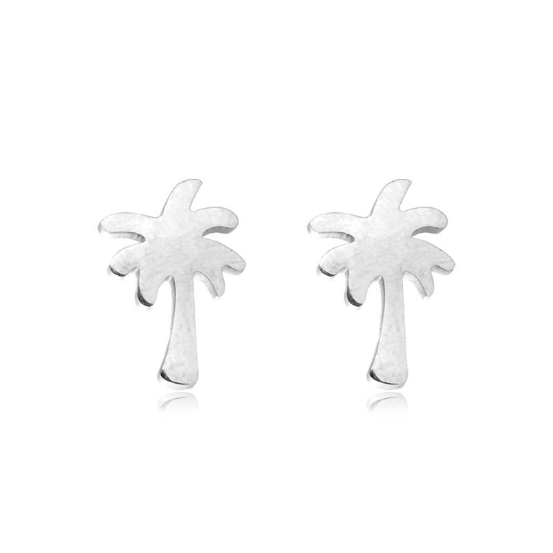 Lovelymusthaves Lovelymusthaves - Palm tree hip earstuds silver/gold