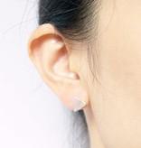 Joboly Origami fold airplane minimalistic earrings