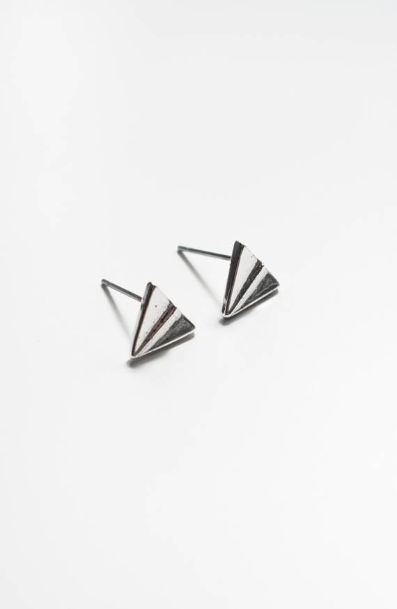 Lovelymusthaves Origami fold airplane minimalistic earrings