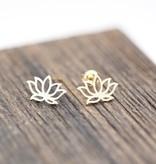 Lovelymusthaves Lotus flower hip boho earrings
