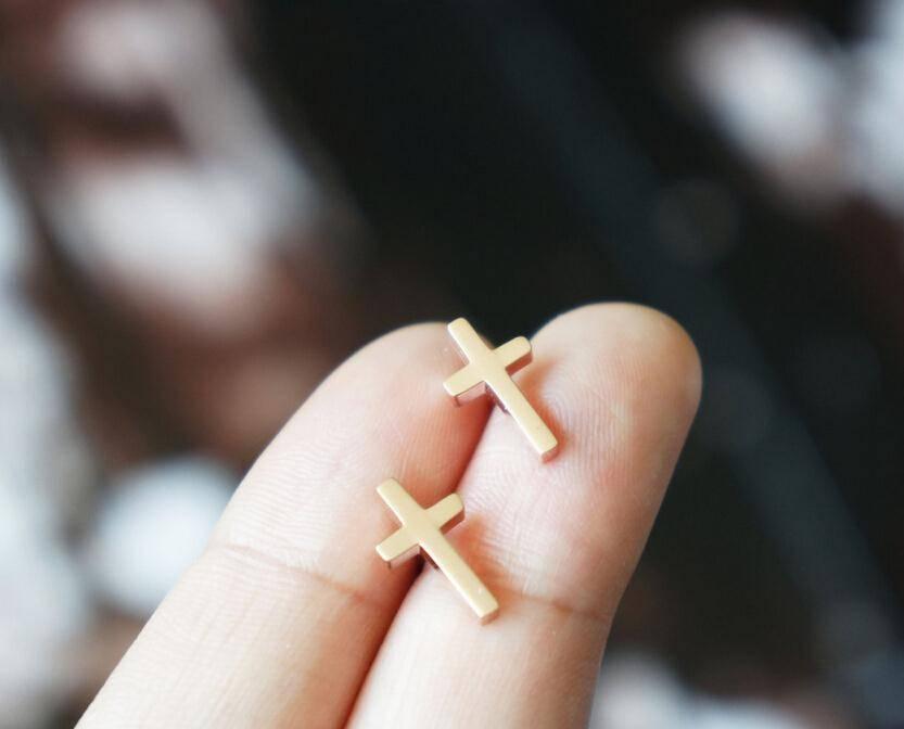 Joboly Heilig kruis god trendy oorbellen