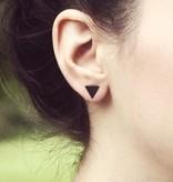 Joboly Dichte driehoek minimalistische oorbellen