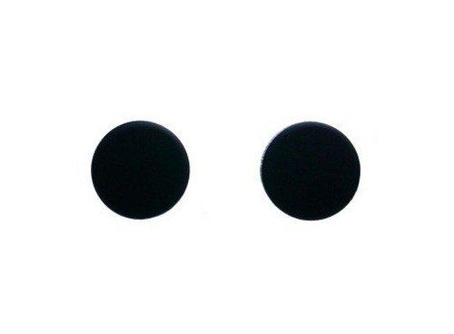 Lovelymusthaves Dichte cirkel minimalistische oorknopjes zilver/goud/zwart