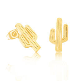 Lovelymusthaves Cactus earstuds silver/gold