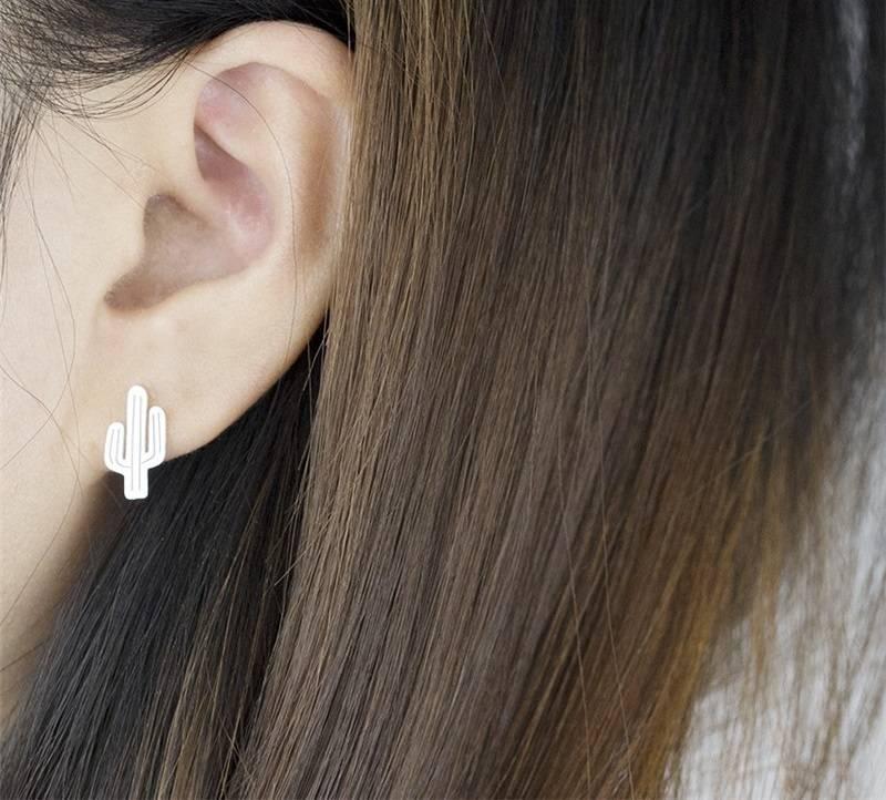 Cactus hippe oorbellen
