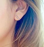 Bar T minimalistische ronde staaf oorbellen
