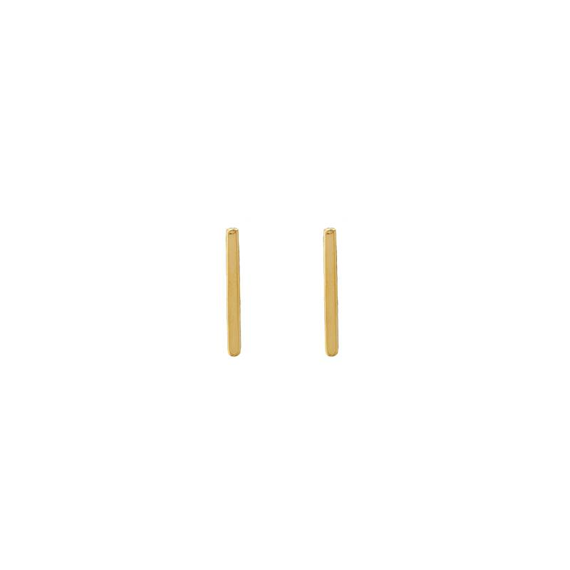 Lovelymusthaves Bar T minimalist flat bar earrings 12mm