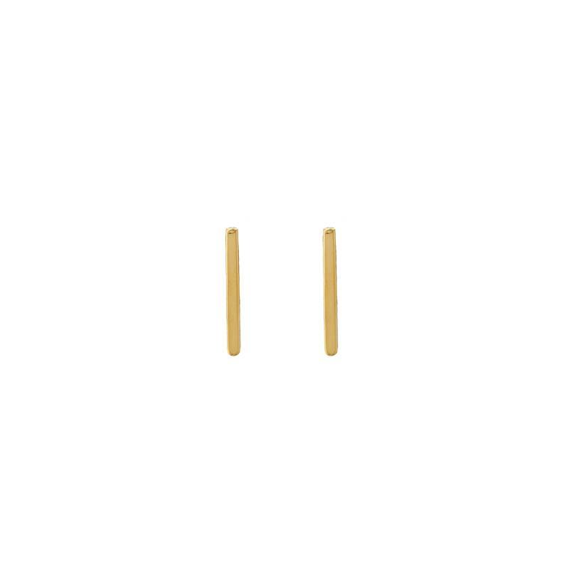 Lovelymusthaves Bar T minimalistische platte staaf oorknopjes oorbellen zilver/goud/zwart 12mm