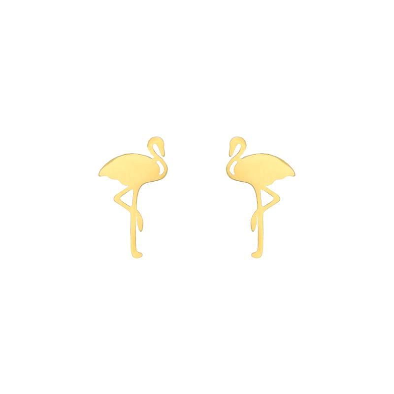Lovelymusthaves Flamingo hippe oorbellen
