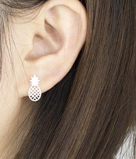 Joboly Ananas pineapple trendy oorbellen