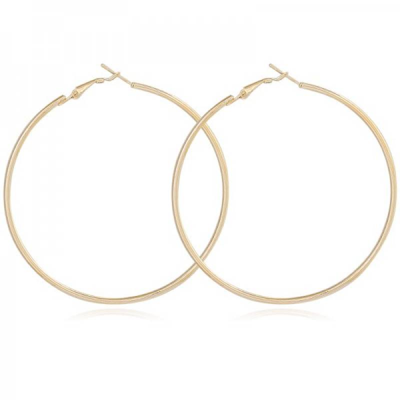 Lovelymusthaves Round earrings 4cm silver/gold