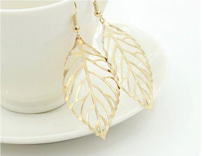 Lovelymusthaves Leaf earrings silver/gold