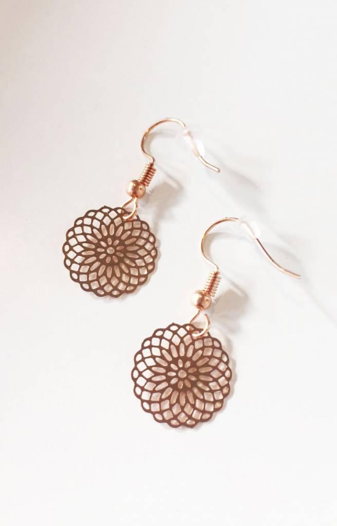 Lovelymusthaves Hippe mandala musthave oorbellen zilver/goud/rose