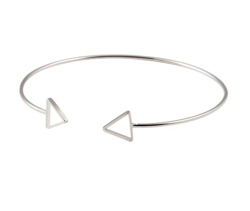 Lovelymusthaves Triangle open minimalistische driehoek armband