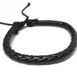 Lovelymusthaves Trendy enkele echte stoere mannen / heren armband verstelbaar