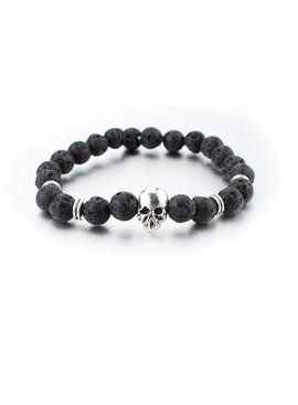 Lovelymusthaves Tough skull skull men / men bracelet silver