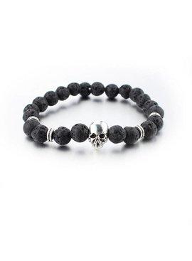 Tough skull skull men / men bracelet silver