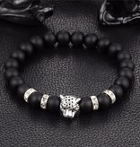 Lovelymusthaves Tough lion panther animal charm bracelet for men / men