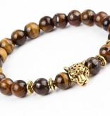 Lovelymusthaves Stoere leeuw panter dier bedel armband voor mannen / heren