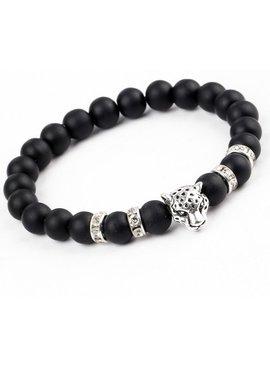 Tough lion panther animal charm bracelet for men / men