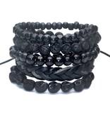 Lovelymusthaves Tough trendy leather men's men's bracelet set