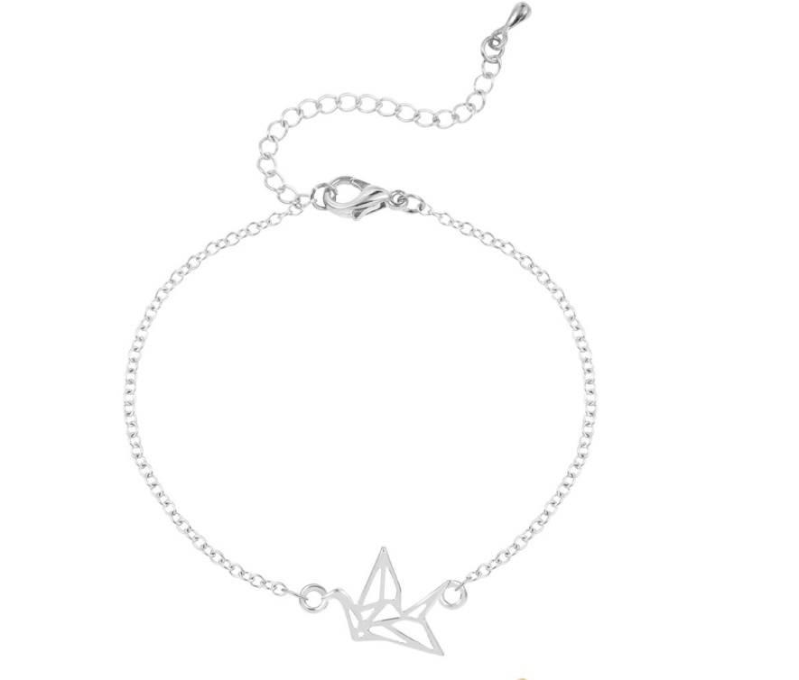 Lovelymusthaves Origami kraanvogel dier subtiele armband