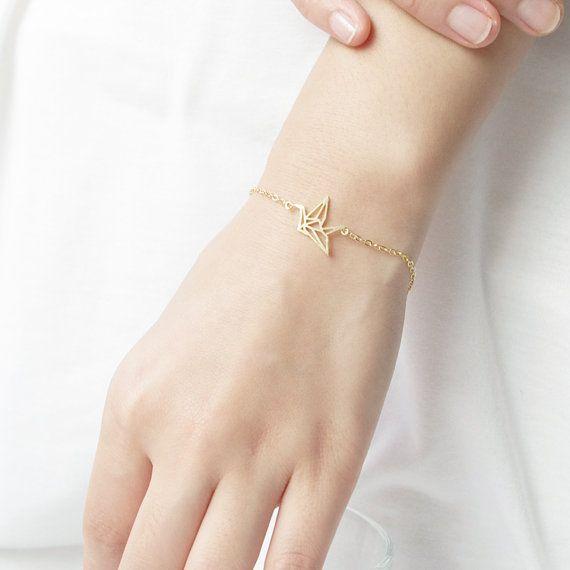 Lovelymusthaves Lovelymusthaves - Origami crane bird subtile bracelet