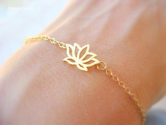 Lovelymusthaves Lotus bloem hippe boho armband zilver/goud