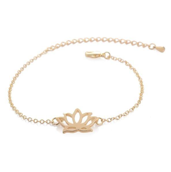 Lovelymusthaves Lotus flower boho bracelet silver/gold