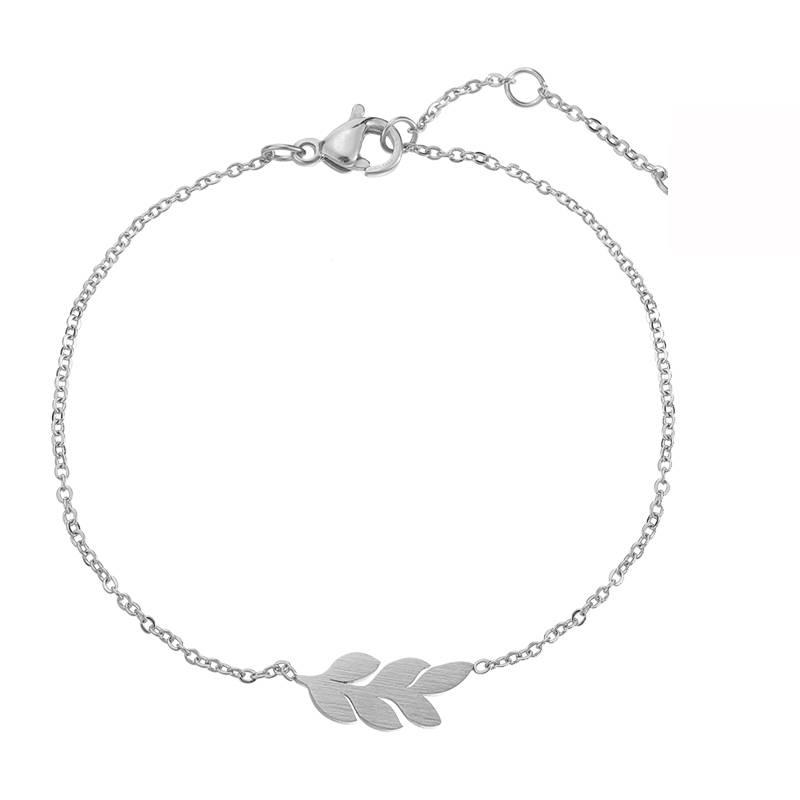 Lovelymusthaves Leaf flat leaf plant trendy bracelet