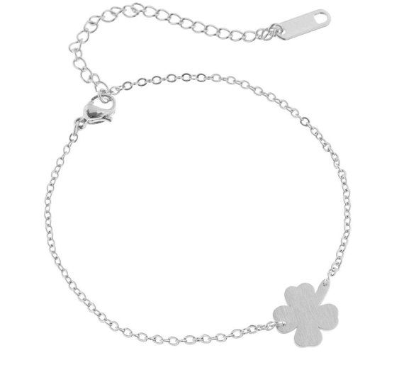 Lovelymusthaves Klavertje vier plant bloem hippe armband