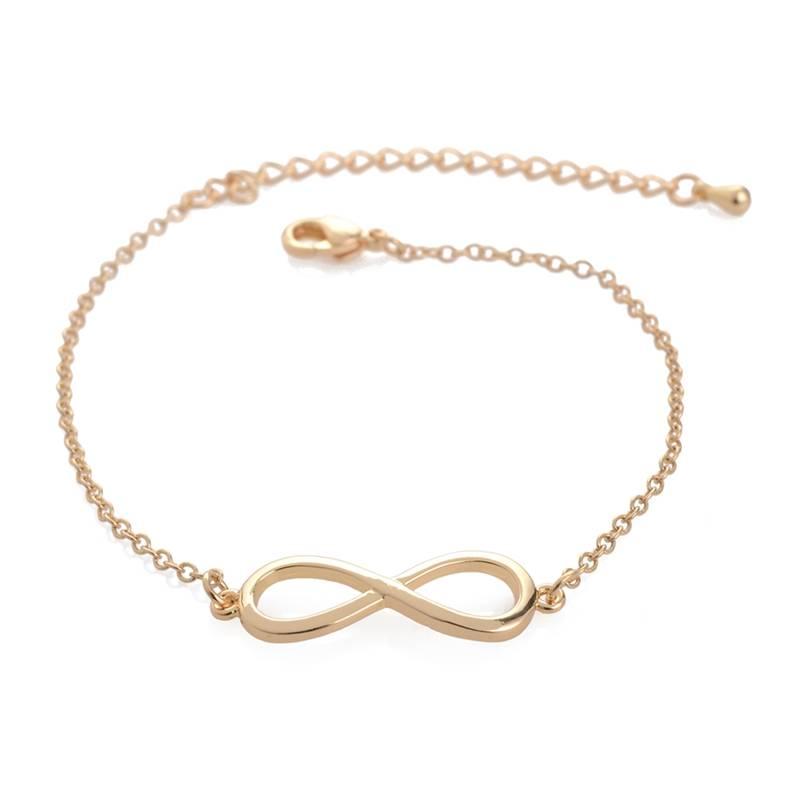 Lovelymusthaves Infinity bracelet silver/gold