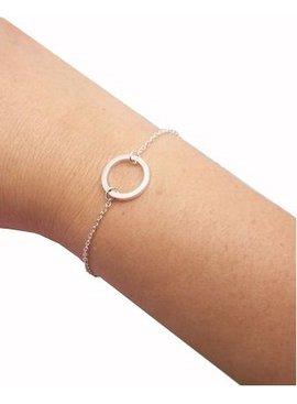 Lovelymusthaves Cirkel minimalistische armband zilver/goud/rosé