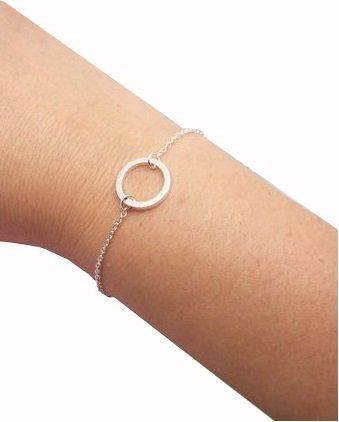 Lovelymusthaves Cirkel minimalistische armband zilver/goud/rose