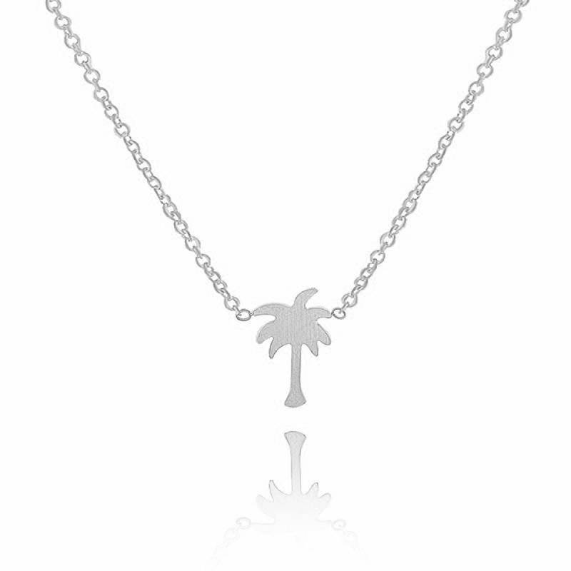 Lovelymusthaves Palm boom hippe ketting zilver/goud