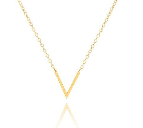 Joboly Minimalistic subtle V shape necklace