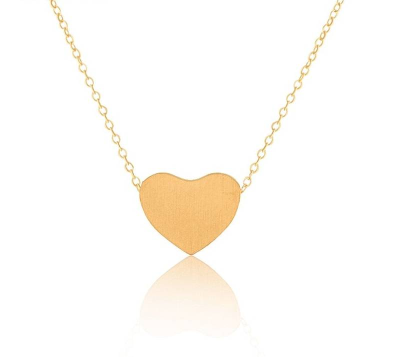 Lovelymusthaves Heart love necklace silver/gold/rosé