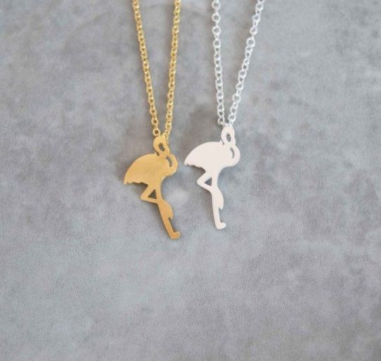 Lovelymusthaves Flamingo ketting helemaal hip zilver/goud/rose