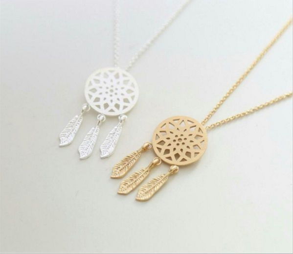 Lovelymusthaves Dreamcatcher boho bohemian style ketting zilver/goud/rose