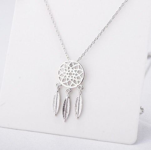 Lovelymusthaves Dreamcatcher boho necklace silver/gold/rosé